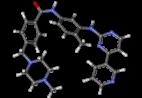 Ball-and-stick model of imatinib